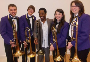 Trombone section with Dennis Rollins